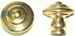 VR6012l PB French style cabinet knob solid brass
