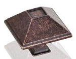 602DMAC Tahoe Rustic Cabinet Knob Distressed Oil Rubbed Bronze