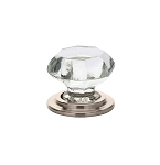 86028SN Crystal wardrobe knob Satin Nickel setting