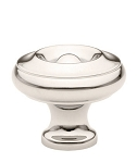 86115PN Solid Brass Cabinet knob. Polish Nickel Finish