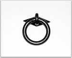 MP2004/2027 Black Wrought iron ring & rose