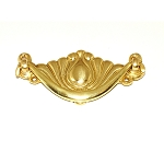 BB123PB Victorian Cast brass drawer pull