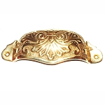 BB142 PB Victorian cup pull Polish cast brass