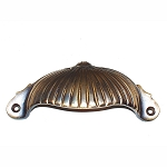BB270 AB Solid Cast brass Victorian cup pull