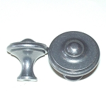 5202-35SP French Cast Iron knob SP Silver Patina or French Pewter