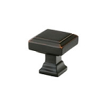 86295OB Geometric square knob Oil Rub Bronze