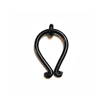 MP2006L WI Black Wrought Iron drop pull