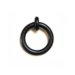 MP2004 WI Black Wrought Iron Ring Pull
