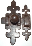 VAN2529 French cabinet latch in antique iron finish
