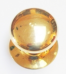 VR237 PB Knob & Rose Polish Brass Round